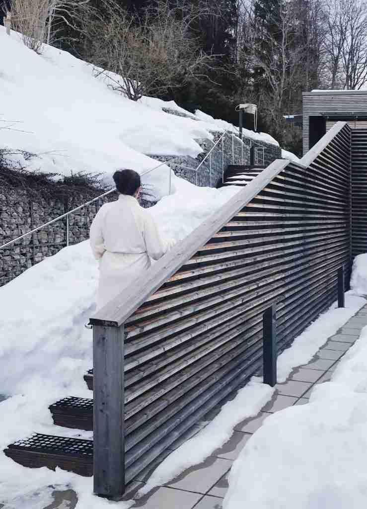 סאונה בשלג מלון Das Tegernsee