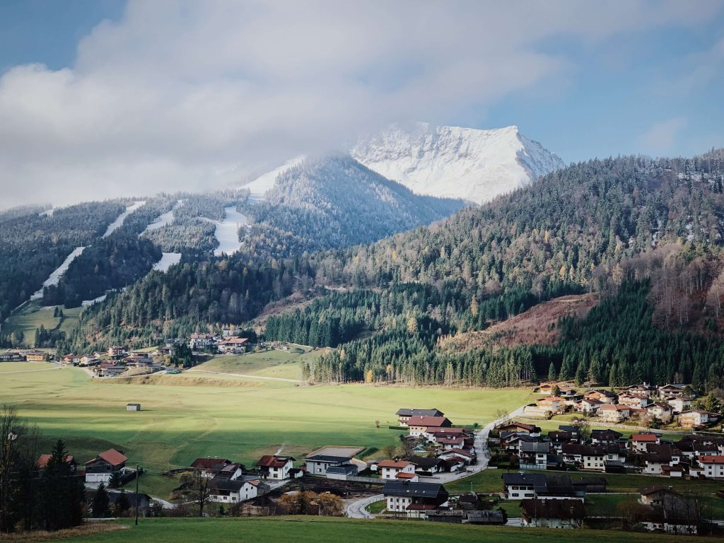 הנוף ממלון Reiterhof אוסטריה