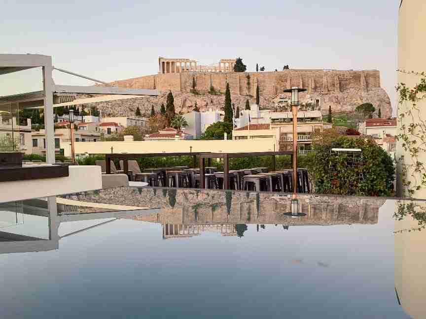 מלונות בוטיק באתונה - Herodion Hotel הנוף מהגג