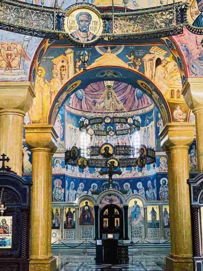 ציורי הקיר בקתדרלת סנט ג'ון ולדימיר, העיר בר, מונטנגרו