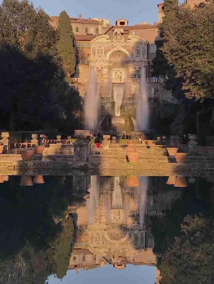 גני Villa d'Este, המזרקות - חופשה ברומא
