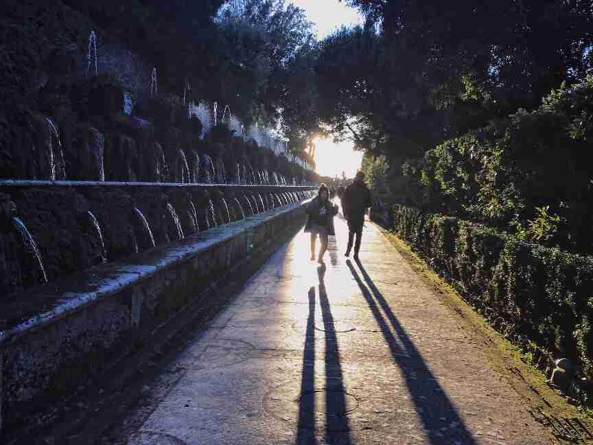 גני Villa d'Este, חופשה ברומא