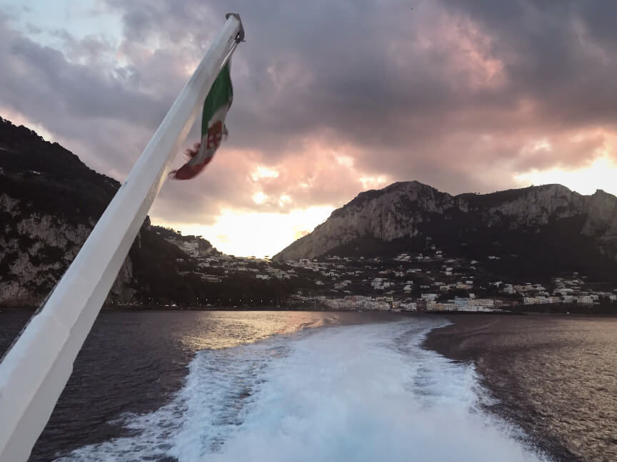 המעבורת לקאפרי דרום איטליה