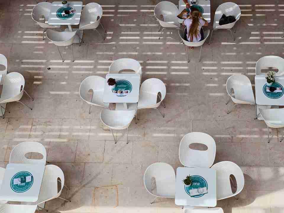 בית הקפה שבתוך מבצר מיכאל הקדוש בשיבניק, קרואטיה