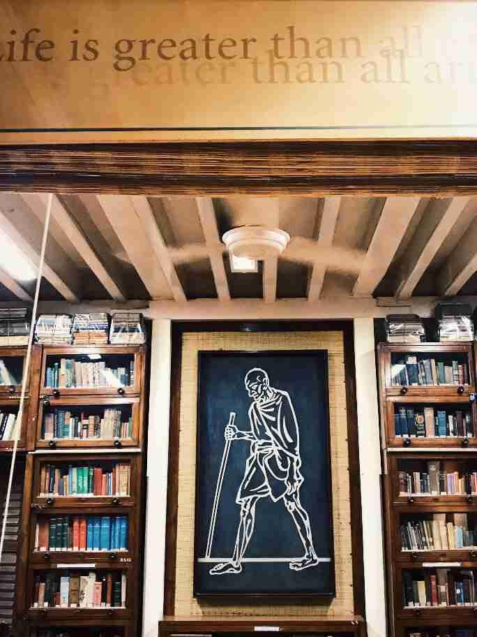 הספרייה במוזיאון גנדהי, מומבאי