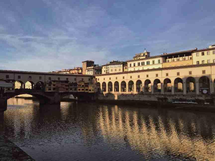פירנצה - מבט לעבר גלריית אופיצי