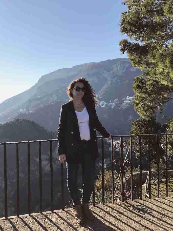 הנוף מגני וילה צ'ימברונה, ראוולו, דרום איטליה