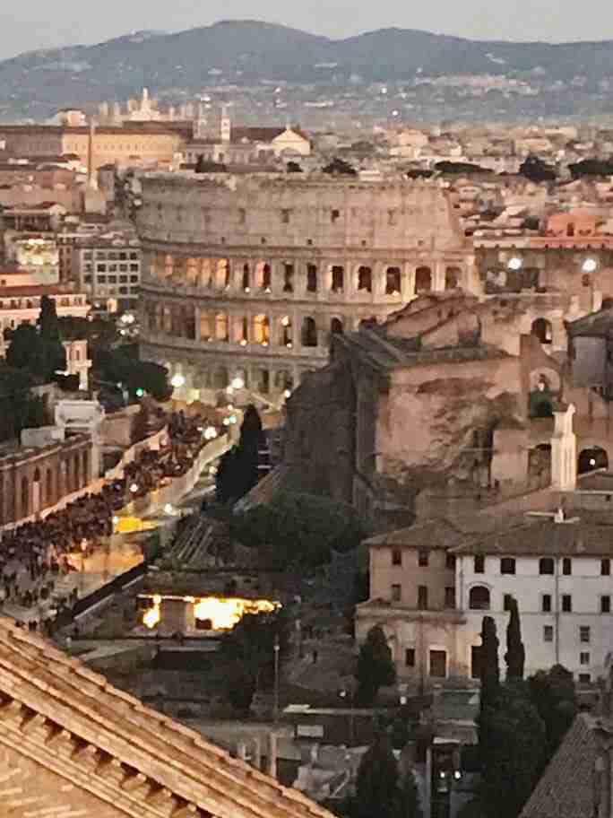 רומא, על גג אנדרטת ויטוריו עמנואל - חופשה ברומא