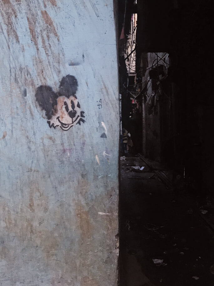 גרפיטי בסלאם דהראווי, מומבאי