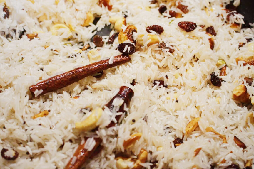 אורז ביריאני עם קשיו
