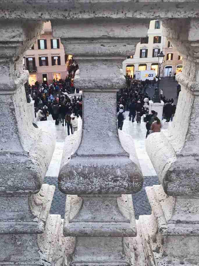 תצפית לעברהמדרגות הספרדיות - חופשה ברומא
