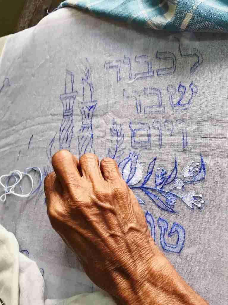 ריקמה ברובע היהודי בקוצ'ין