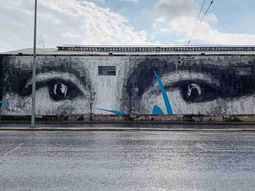 אמנות רחוב וגרפיטי באתונה - המונה ליזה INO