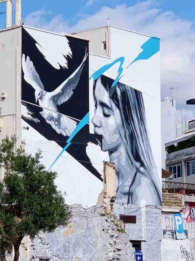 אמנות רחוב וגרפיטי באתונה - INO
