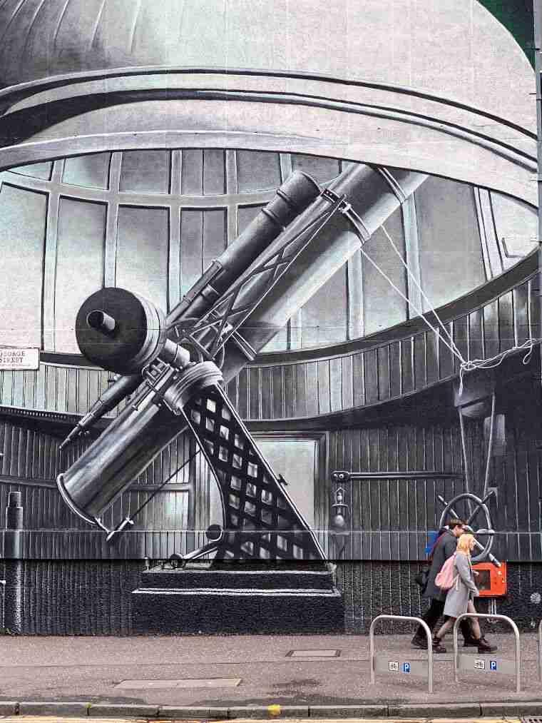אמנות רחוב גלאזגו - הטלסקופ