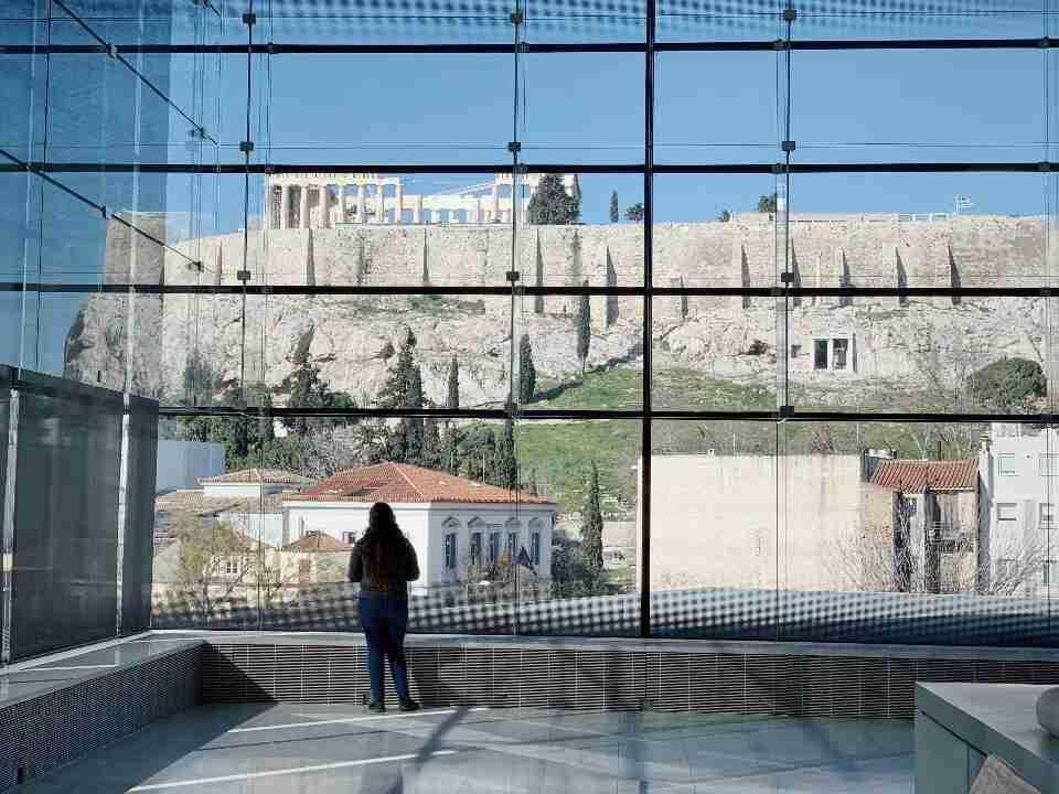 הנוף לאקרופוליס ממוזיאון האקרופוליס