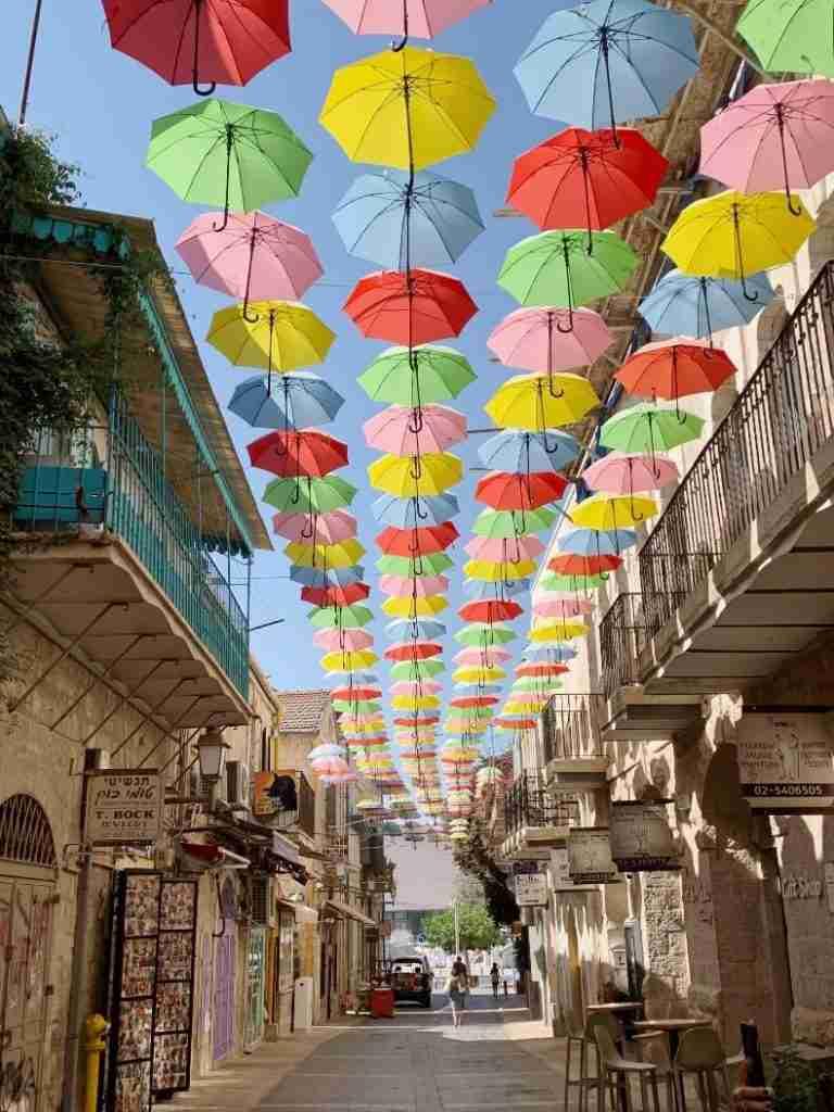 רחוב המטריות נחלת שבעה ירושלים